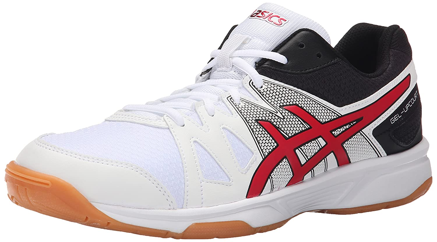Amazon.com | ASICS Men's Gel-Upcourt Indoor Court Shoe, White/Racing  Red/Black, 15 M US | Volleyball