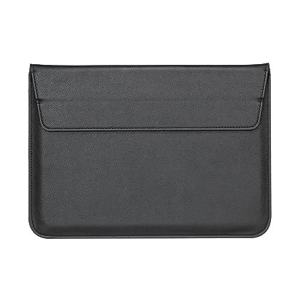nouveau style d0c85 6f87f Housse Protection Pour Macbook Air &Pro 13 Coque Cuir [13 Pouce] Avec Le  Support,Pochette De Sac Protection Portable - Noir