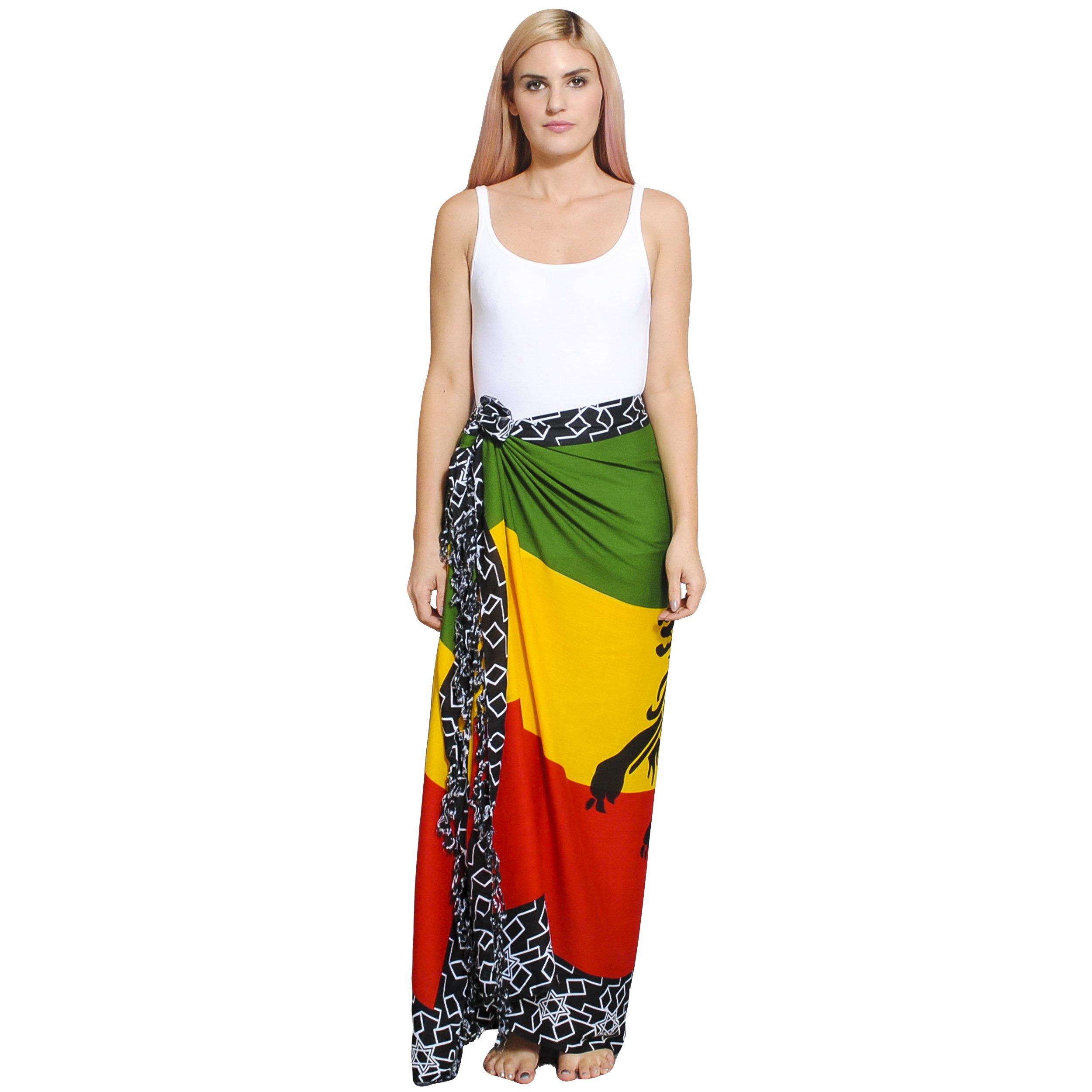 48de980289 Women s Rasta Lion Beach Summer sarong Wraps-one size - Rasta Reggae ...