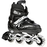 Veera 731 Adjustable Inline Skates, 70mm Wheels (Size-Small)