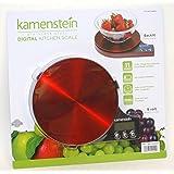 Kamenstein Stainless Steel Digital Kitchen Scale (Red)