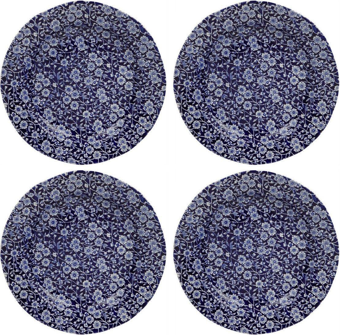 Burleigh Blue Calico Plates 8.5'' (Set of 4)