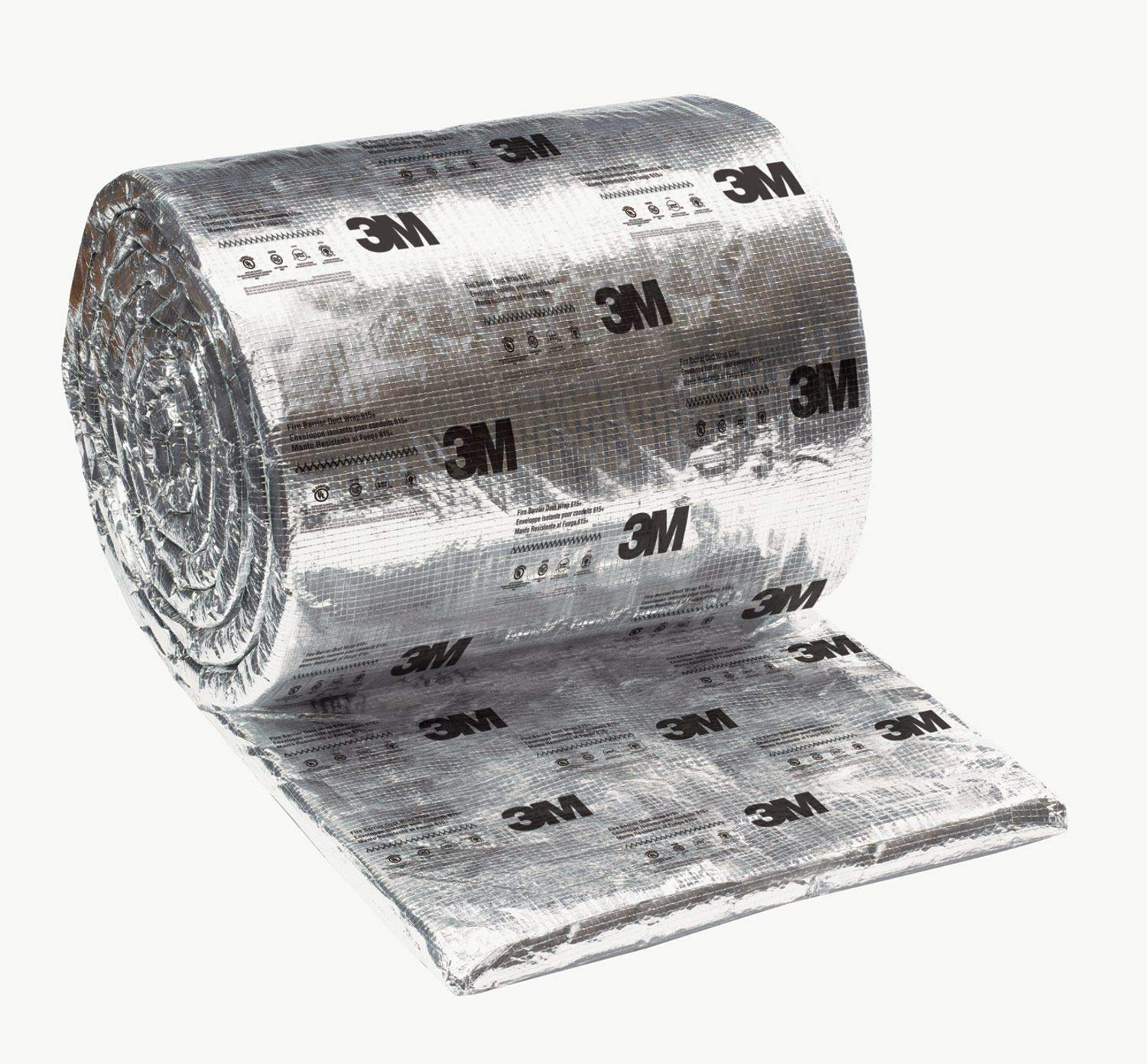 3M Fire Barrier Duct Wrap 615+, 24 in x 25 ft, 1 roll/case by 3M