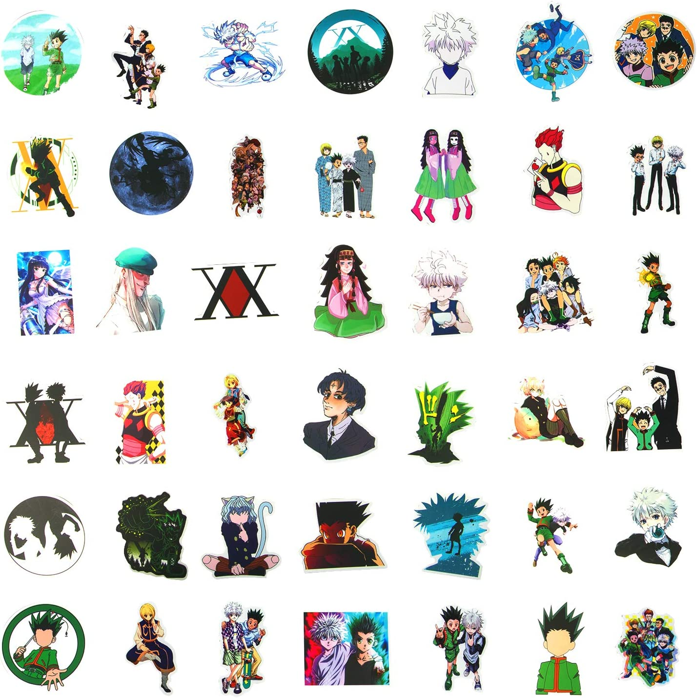 Hunter X Hunter Stickers 100pcs Japanese Anime Stickers Waterproof Vinyl Stickers for Teens Laptop Stickers Water Bottle Stickers Guitar Computer Skateboard Stickers Gifts for Anime Lovers