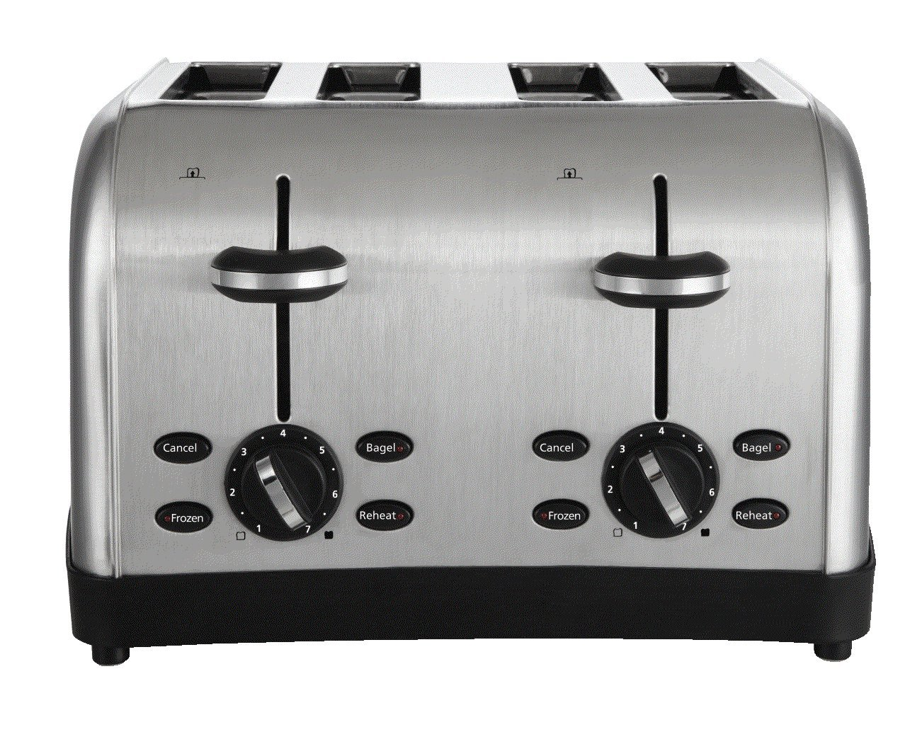 5. Oster 4-Slice Toaster, Brushed Metal (TSSTTRWF4S-SHP)