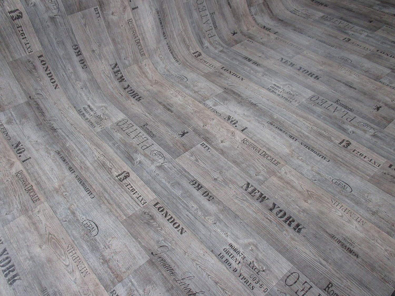 Muster grau PVC mit Schriftz/ügen