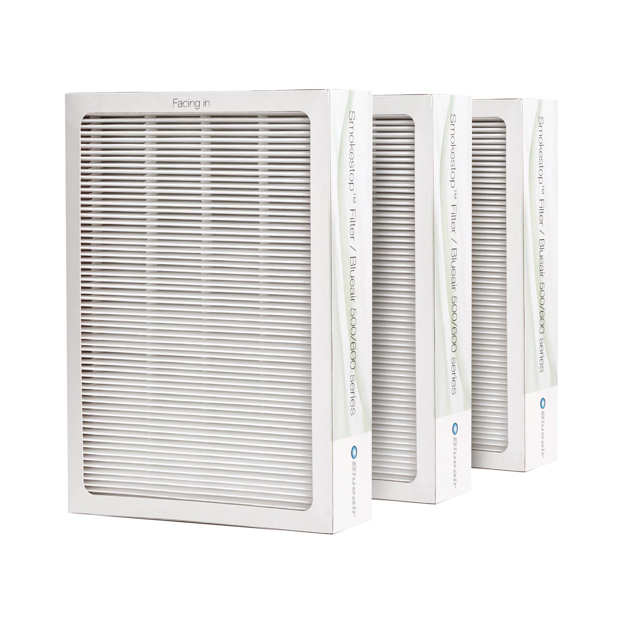 Blueair Classic Replacement Filter, 500/600 Series Genuine SmokeStop Filter, Odor Removal Classic 501, 503, 510, 550E, 555EB, 601, 603, 650E, 505, 605