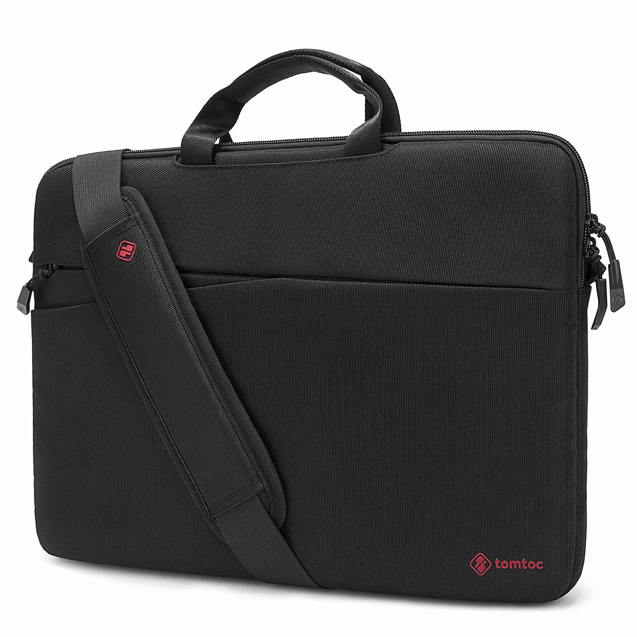 tomtoc Slim Laptop Shoulder Bag Sleeve Fit for 14-inch Lenovo ThinkPad X1 Carbon Yoga | 15'' New MacBook Pro Touch Bar A1990 A1707 | HP Acer Chromebook Notebook 14'', with Handle & Accessory Pocket