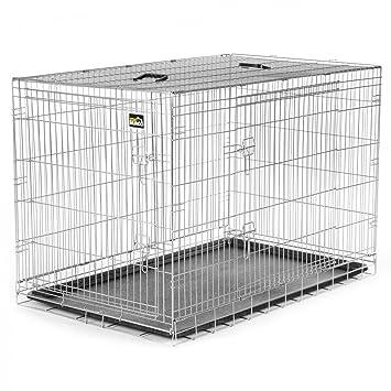 zoomundo Portador Jaula Plegable Metálica para Mascotas para Perros Gatos Tamaño XXL (2 puertas): Amazon.es: Productos para mascotas