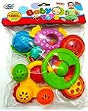SMT Rattle Sweet Cuddle Infants Rattle Jhunjhuna New Born Toys Set Of 5 Pec (Multicolor)