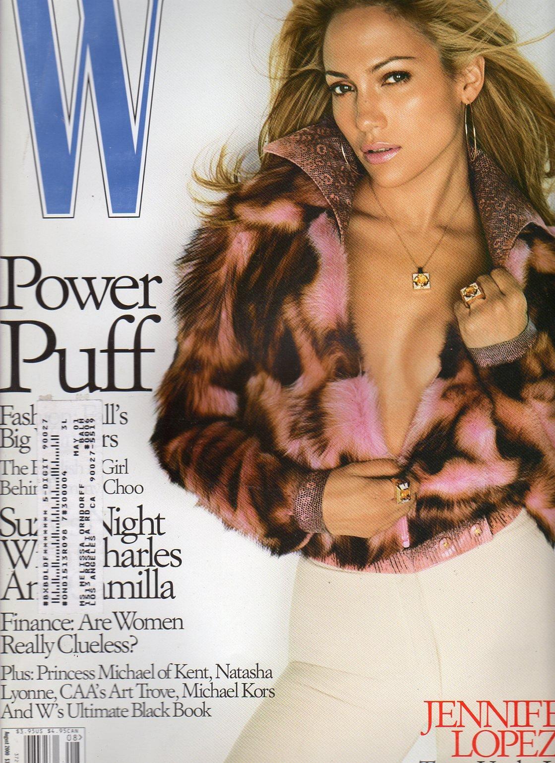 W Fashion Magazine August 2000 (JENNIFER LOPEZ)