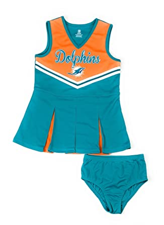 84e148e46 Outerstuff Miami Dolphins Football Girls Baby Doll Dress Clothing Apparel