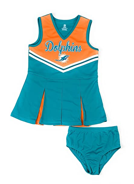 cheap for discount be75e 162e6 Outerstuff Miami Dolphins Football Girls Cheerleadrer Dress Clothing Apparel