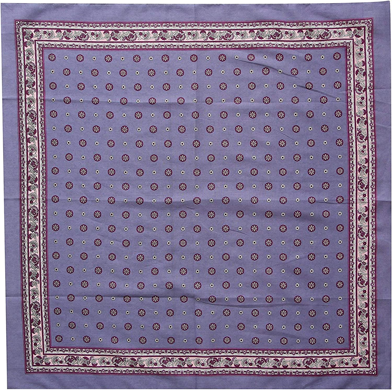 tessago Foulard cotone 100/% mis cm 70 x 70 lilla disegno 70001 var A