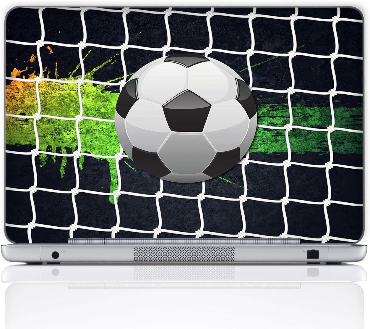 Meffort Inc 15 15.6 Inch Laptop Notebook Skin Sticker Cover Art Decal (Free Wrist pad) - Soccer
