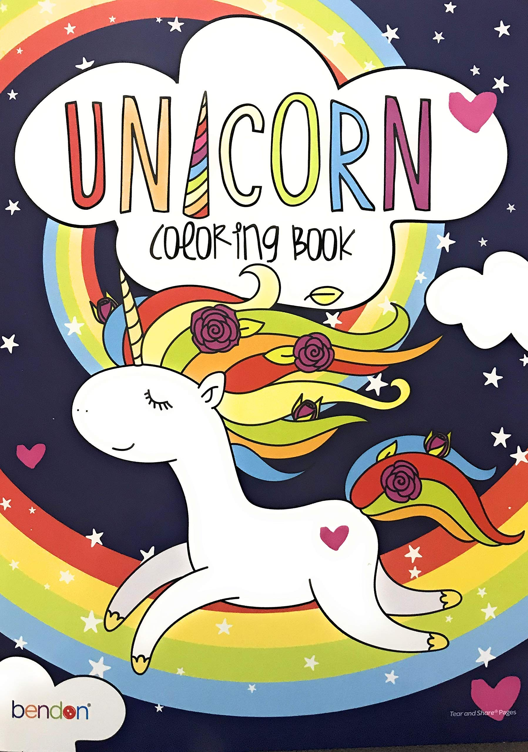 Bendon Unicorn Coloring Book (for All Ages - 48 Magical Pages to Color!) 3