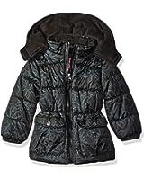 Pink Platinum Girls' Tonal Floral Print Puffer Jacket