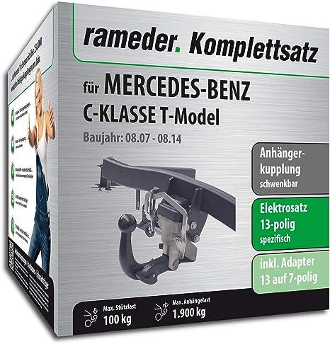 rameder Juego completo, remolque orientable + 13POL Elektrik para Mercedes- Benz Clase C Kombi