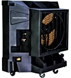 Portacool PAC2K24HPVS 24-Inch Portable Evaporative Cooler, 6700 CFM, 1800 Square Foot Cooling Capacity, Variable Speed Black