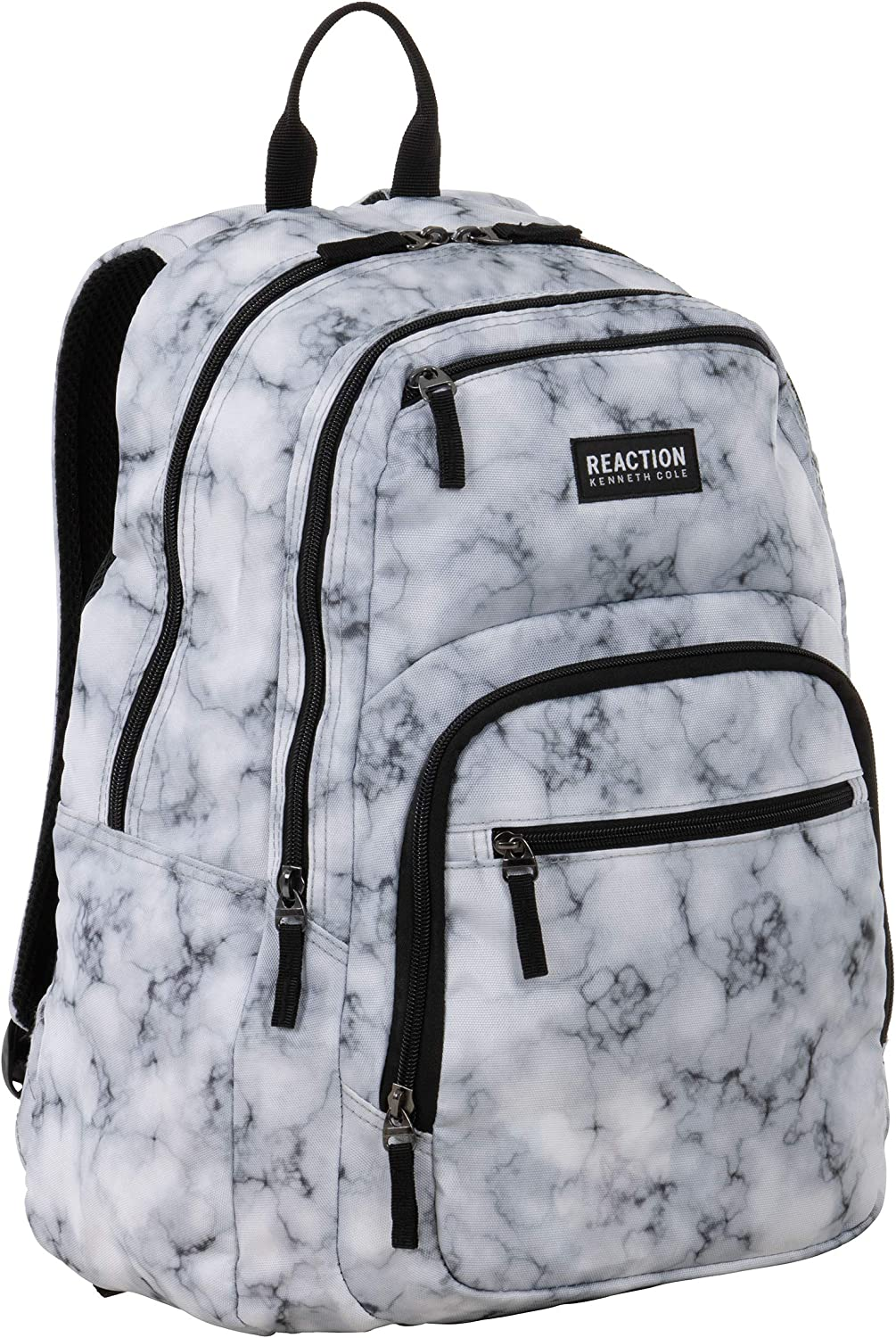 "Kenneth Cole REACTION Printed Dual Compartment 16"" Laptop & Tablet Backpack for School, Travel, Work"