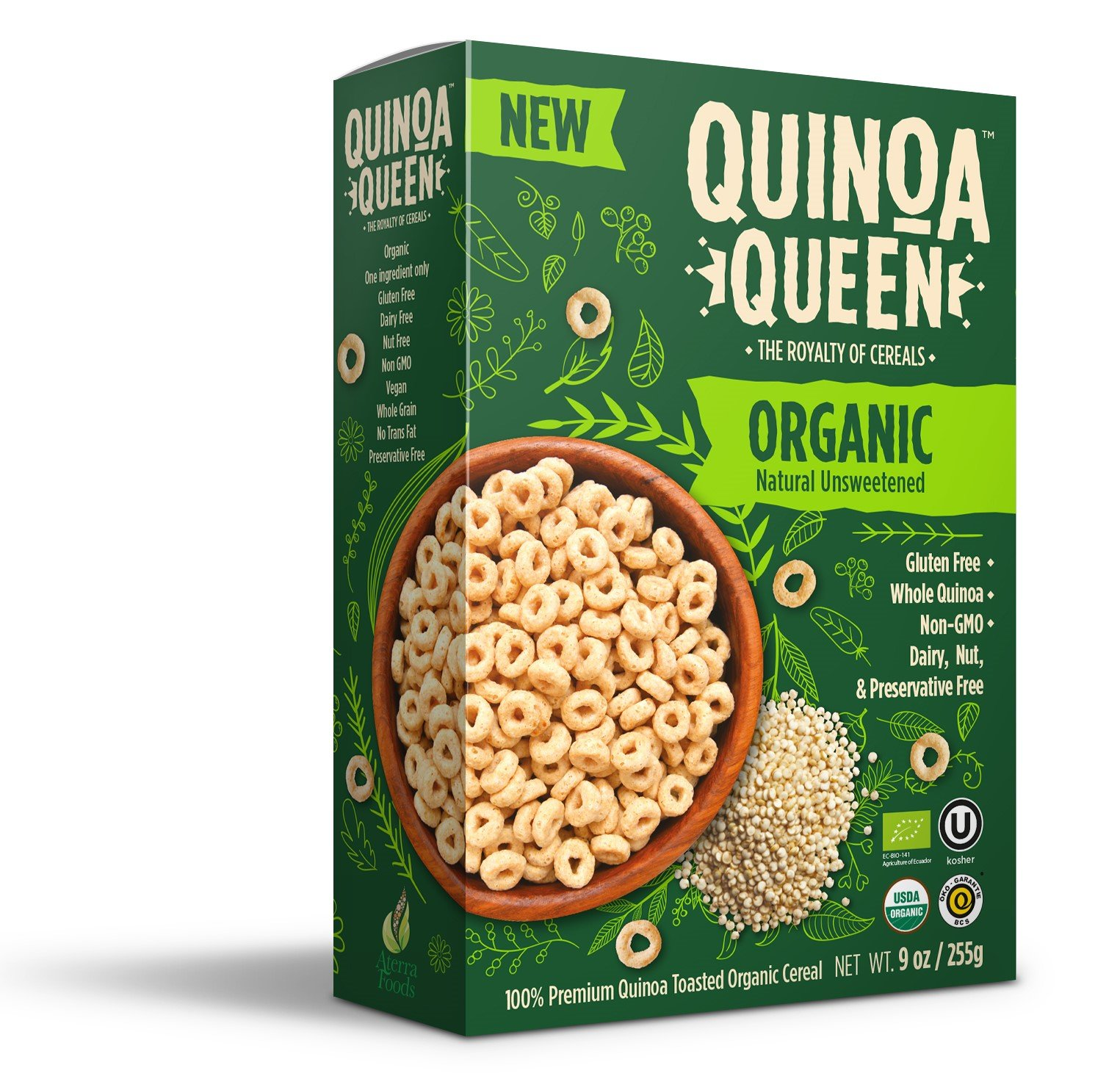 Quinoa Queen Cereal (Unsweetened Organic, 4 Pack)