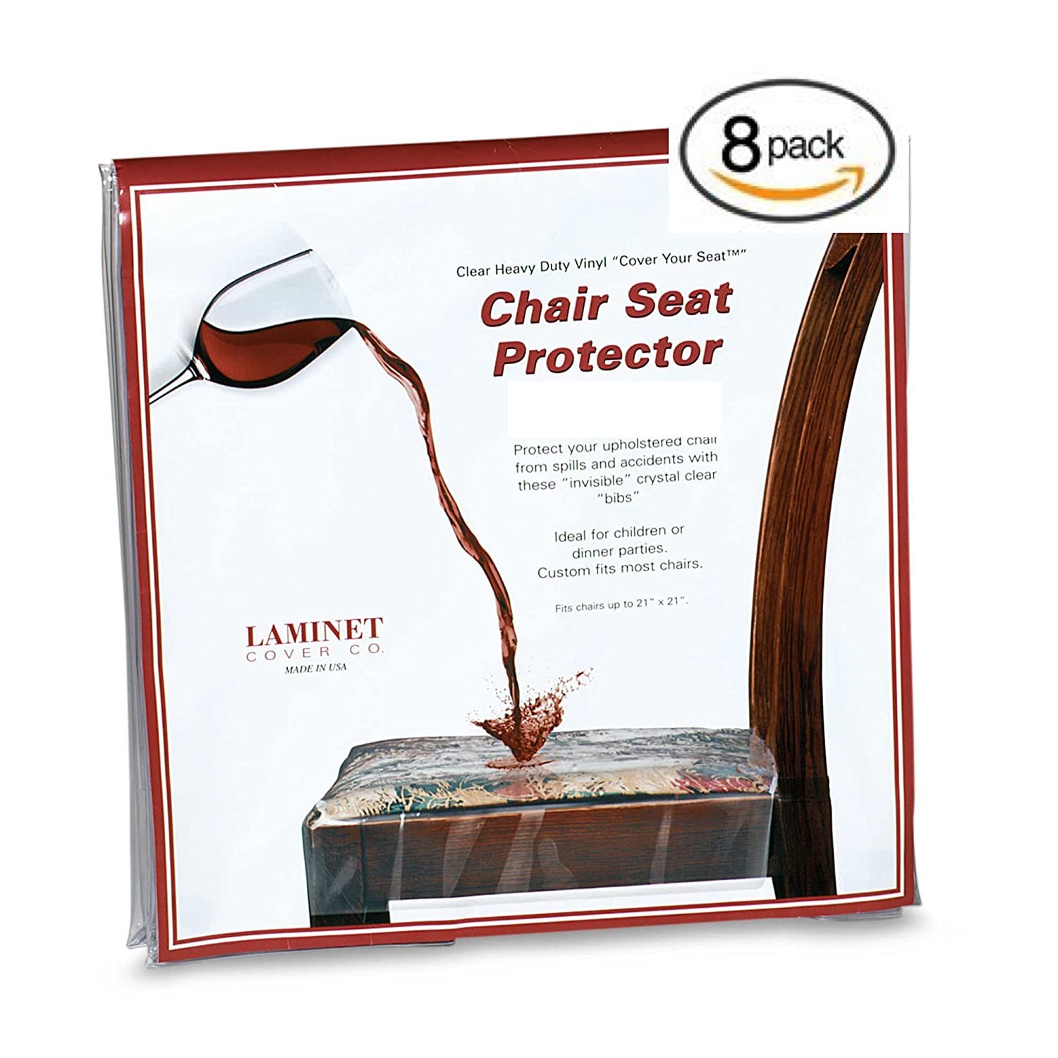 Amazon Clear Vinyl Chair Protectors Fits Chairs up to 21 Inches by 21 Inches Set of 4 Clear Home & Kitchen