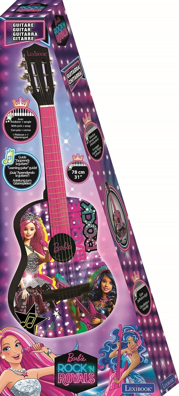 Barbie Guitarra Clásica de 6 Cuerdas Color Rosa Lexibook K2000BB: Amazon.es: Juguetes y juegos