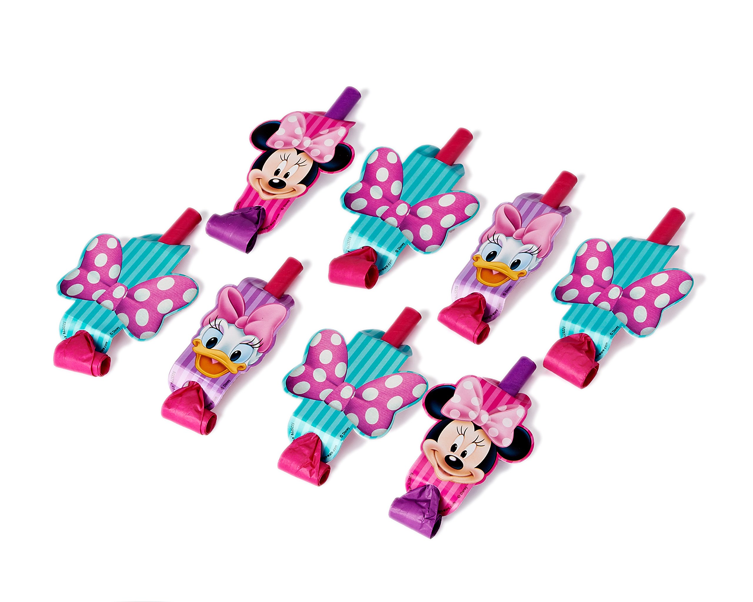 American Greetings Minnie Mouse Bowtique Party Blowers, Pack of 8, Party Supplies by American Greetings