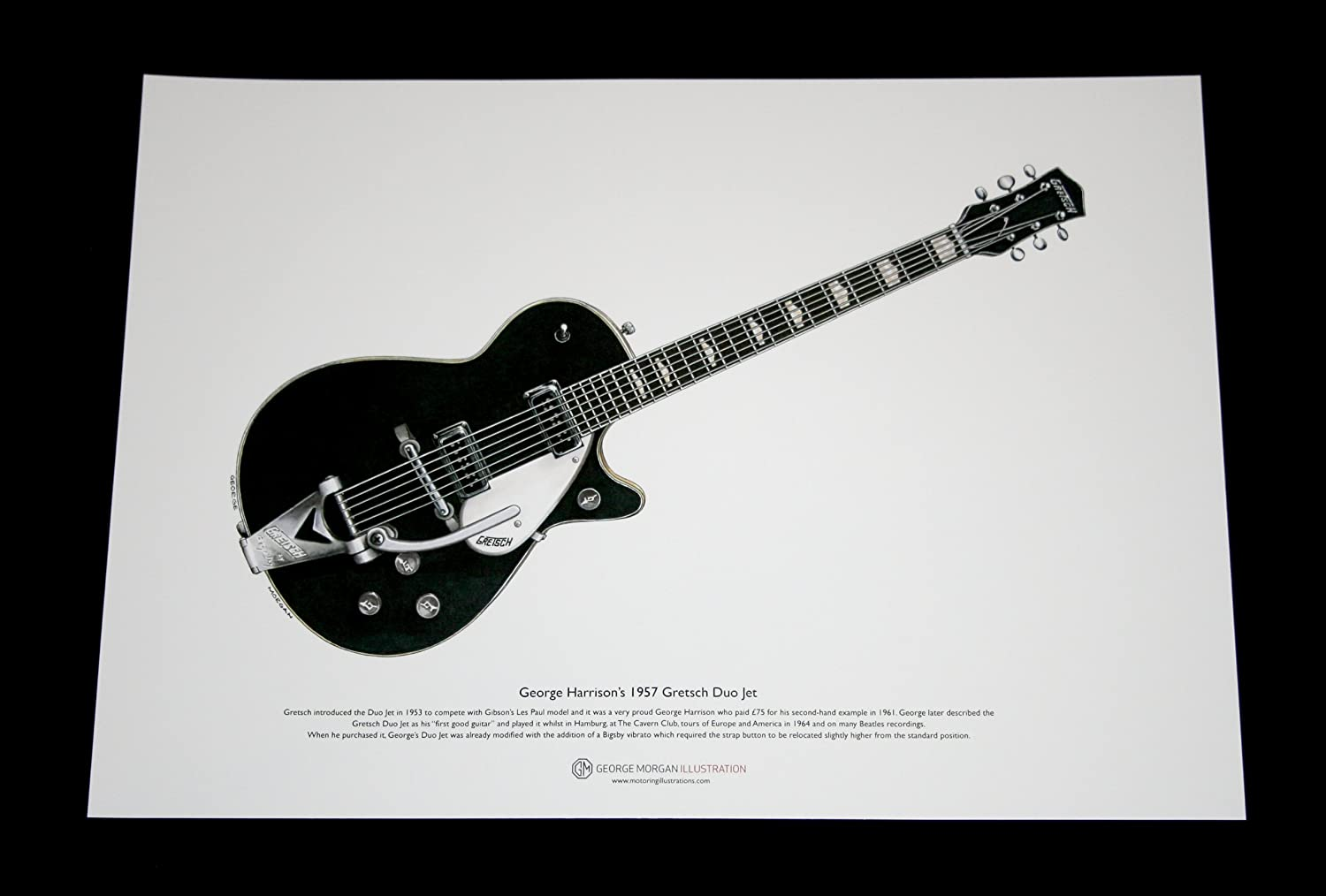 Art Cartel de 1957 Gretsch Duo Guitarra de George Harrison, tamaño ...