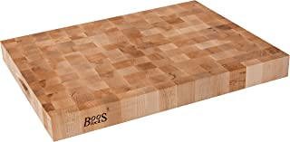 product image for John Boos Block CCB2418-225 Classic Reversible Maple Wood End Grain Chopping Block, 24 Inches x 18 Inches x 2.25 Inches