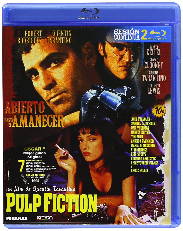 Pack: Pulp Fiction + Abierto Hasta El Amanecer Blu-ray: Amazon.es: John Travolta, George Clooney, Quentin Tarantino, Robert Rodriguez, John Travolta, George Clooney: Cine y Series TV