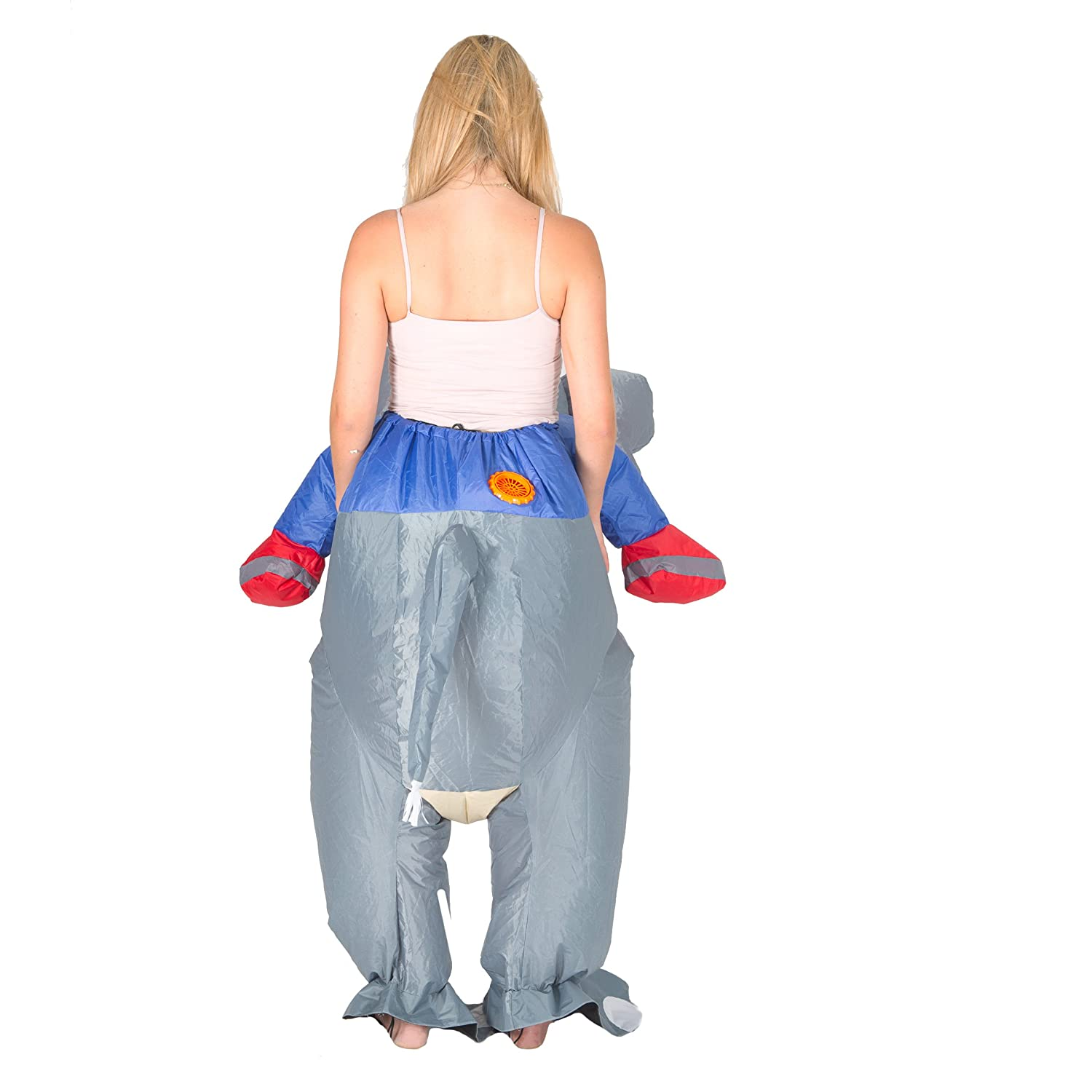 Adults Bodysocks Inflatable Elephant Fancy Dress Costume One size fits most