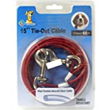 Royal Pet Vinyl Coated-Aircraft Steel Cable Leash for Dogs (Colour May Vary, up to 60LBS)