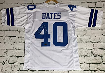 3e84d879a Bill Bates Signed Autographed Dallas Cowboys White Football Jersey - RSA  Certified