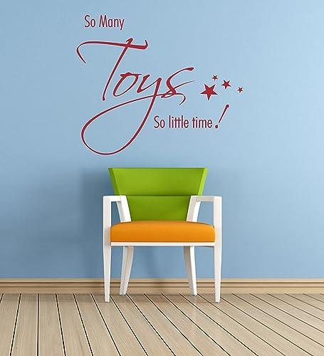 Wanddekoration Kinderzimmer   So Many Toys Zitat Vinyl Wandkunst Aufkleber Wandbild Aufkleber