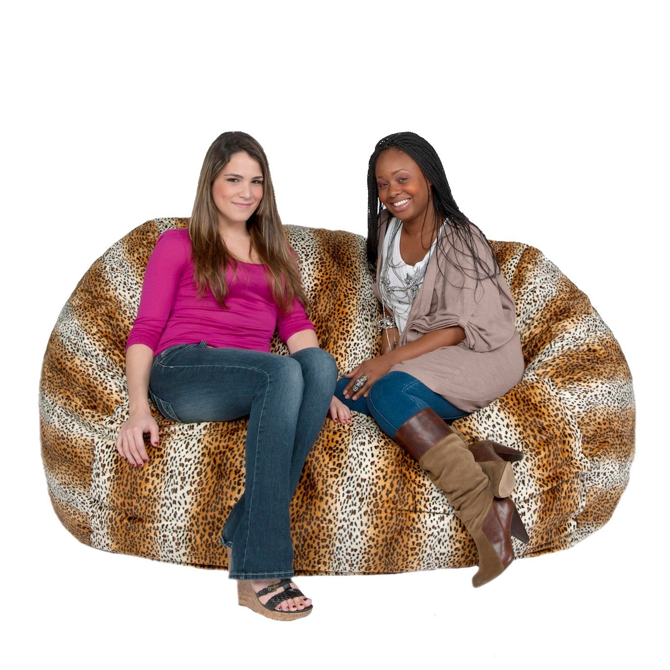 Bean bag chairs for adults - Amazon Com Cozy Sack 6 Feet Bean Bag Chair Large Leopard Print Kitchen Dining