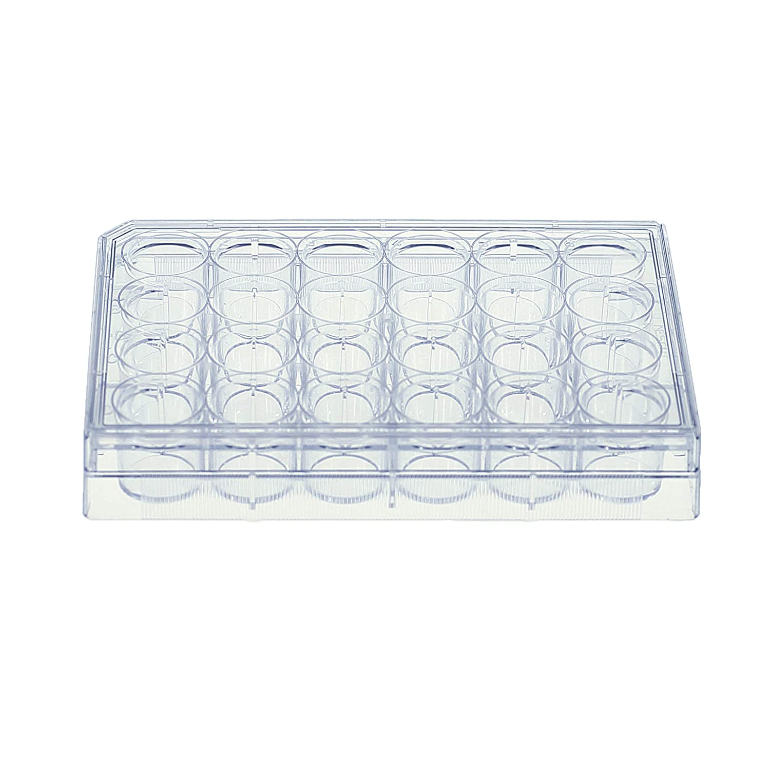 Image of Sapphire 24 Well Tissue Culture Plate for Optimal Cell Culture Growth, Individually Wrapped with Lid, Sterile, 1.9 cm² Growth Area, 50 Treated Cell Culture Plates per case Cell Culture Dishes