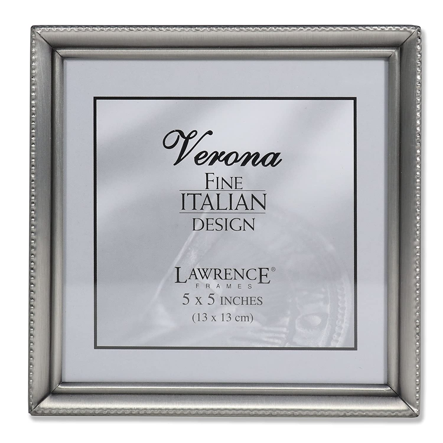 Amazon.com - Lawrence Frames Antique Pewter 5x5 Picture Frame - Bead ...