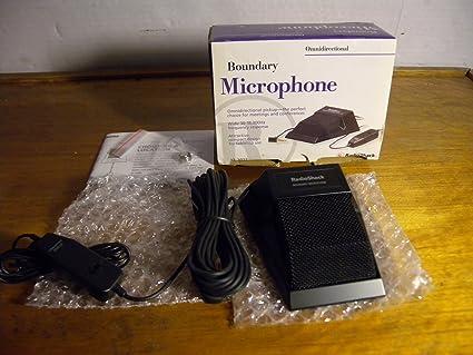 Amazon com: Radio Shack Boundary Microphone Omnidirectional