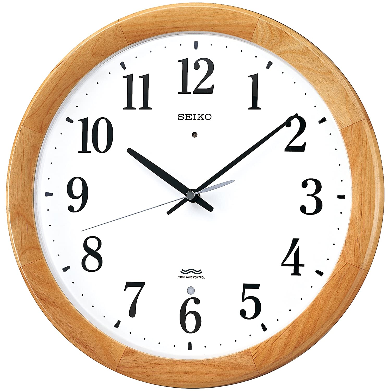 セイコー クロック 掛け時計 電波 アナログ 木枠 天然色木地 KX311B SEIKO B0011Y61E8