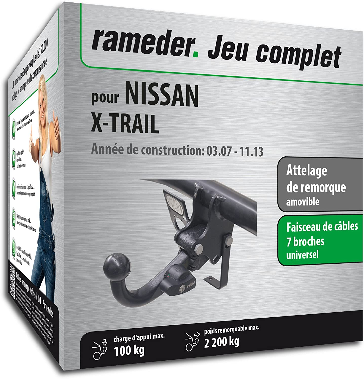 Attelage Amovible pour NISSAN X-TRAIL + faisceau 7 broches (130169-06399-1-FR)