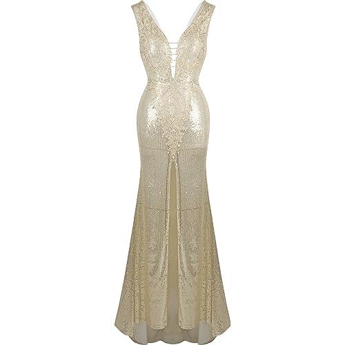 Angel-fashions Womens Peplum Prom Dresses Cut Out