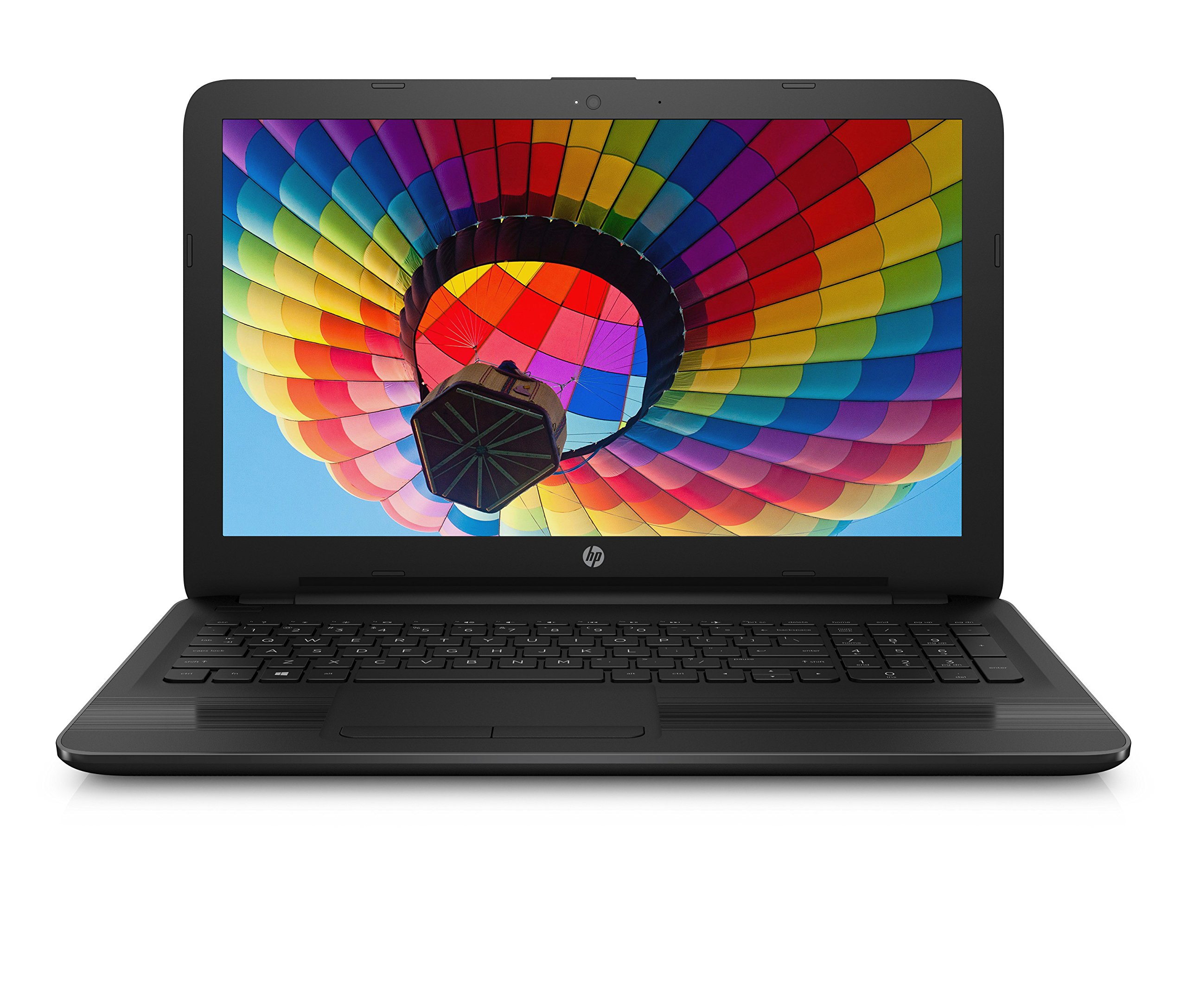 New HP Notebook Laptop 15.6 HD Vibrant Display Quad Core AMD E2-7110 APU 1.8GHz 4GB RAM 500GB HDD DVD Windows 10 by HP