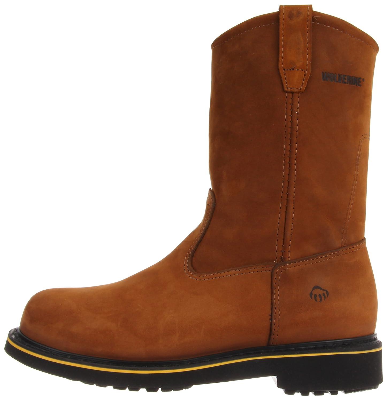 cc4b108aa87 Wolverine Men's Foster DuraShocks Steel-Toe EH Wellington Work Boot