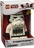 LEGO Star Wars 9002137 Sveglia Retroilluminata per Bambini Minifigure Stormtrooper, Plastica, 24 cm di altezza, Schermo LCD, Bianco/Nero, per Bambini