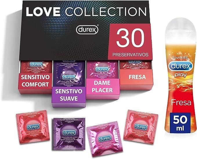 Durex Preservativos Mixtos Sabor Fresa, Dame Placer, Sensitivo Suave y Sensitivo Comfort   30 Condones Durex + Durex Lubricante Fresa 50 ml: Amazon.es: Salud y cuidado personal