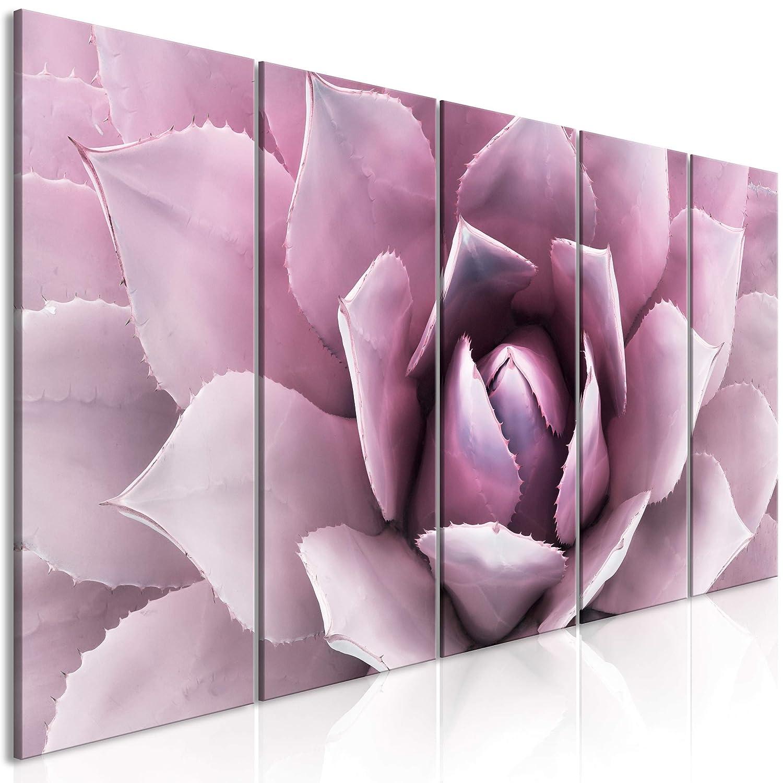 decomonkey Akustikbild Blumen 200x80 cm 5 Teilig Bilder Leinwandbilder Wandbilder XXL Schallschlucker Schallschutz Akustikdämmung Wandbild Deko leise Pflanzen