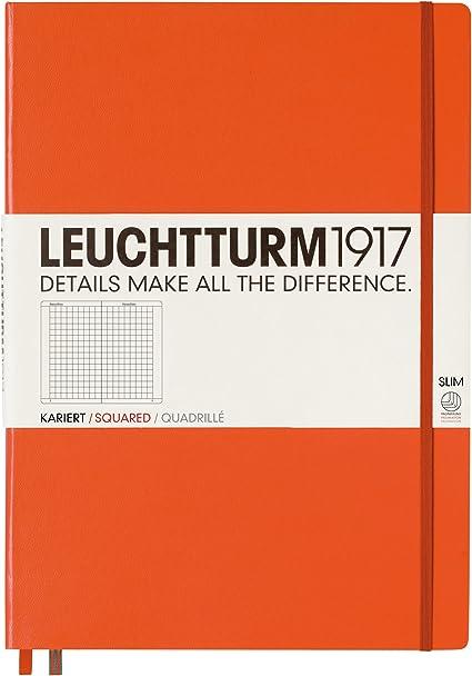 Leuchtturm 1917 Notizbuch Medium A5 rot kariert 312564