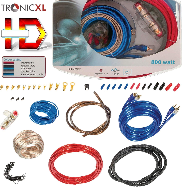 Tronicxl 800w Highend Car Hifi Cable Set Amplifier Elektronik