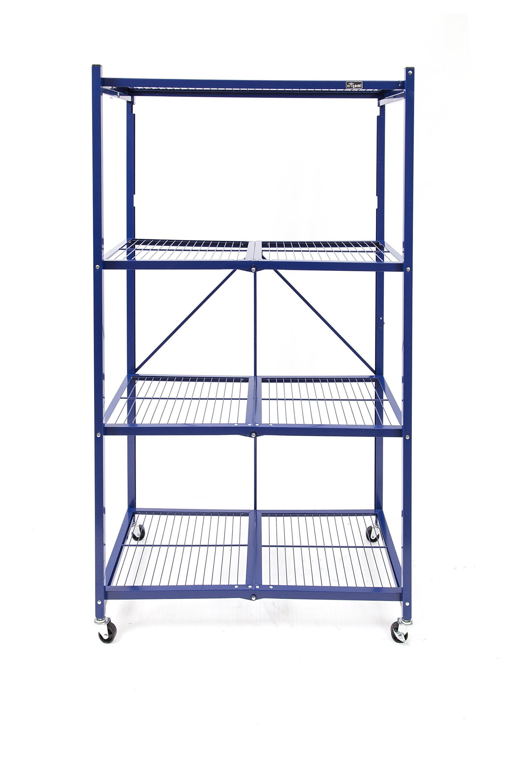Origami R5-12W Shelf with Wheel, 5-Feet, Blue
